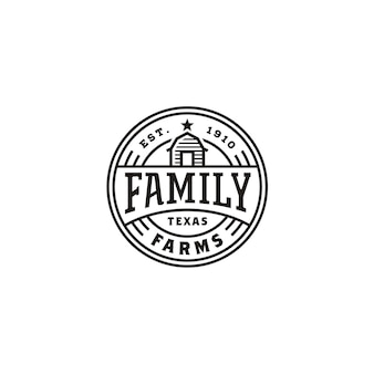 Vintage barn farm label stamp logo