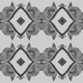 Старинный барокко цветочный орнамент узор