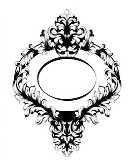 Vintage baroque mirror frame