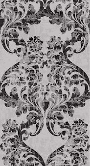 빈티지 바로크 장식 패턴