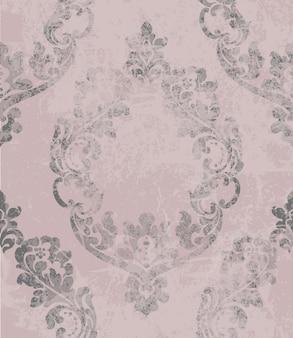 Vintage baroque ornamented background