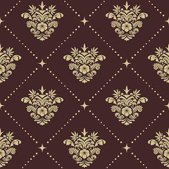 Винтаж барокко бесшовные модели. орнамент в стиле ренессанс для шелковых штор,