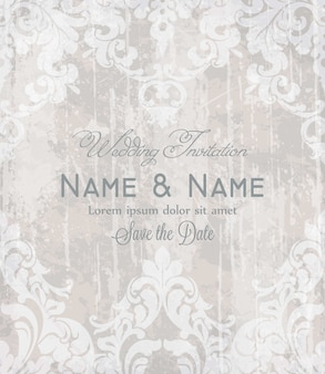 Vintage baroque victorian invitation card