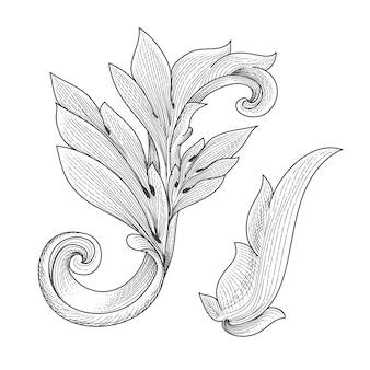 Vintage baroque victorian ornament