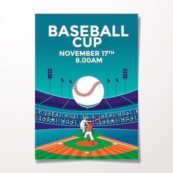 Vintage baseball flyer template