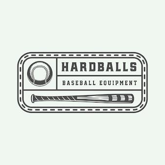 ヴィンテージ野球スポーツのロゴ、エンブレム、バッジ、マーク、ラベル。モノクログラフィックアートイラストベクトル