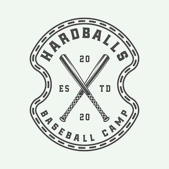ヴィンテージ野球スポーツロゴ