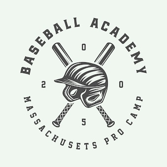 빈티지 야구 스포츠 로고