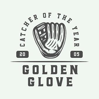 ヴィンテージ野球スポーツのロゴ