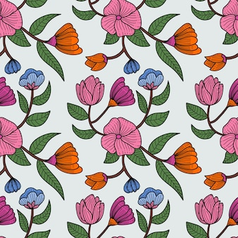 Vintage beautifull flower seamless pattern background vector