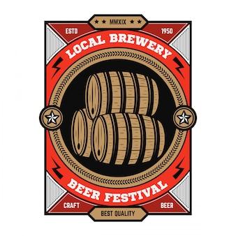 Vintage beer emblem