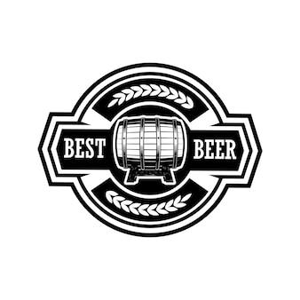 Vintage beer label illustration