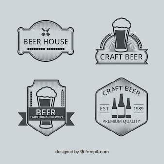 Vintage beer logo collection