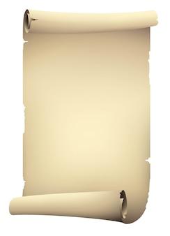 ビンテージベージュスクロール紙のバナー