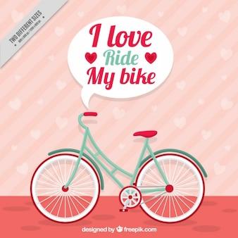 연설 거품과 더불어 빈티지 자전거 bckground