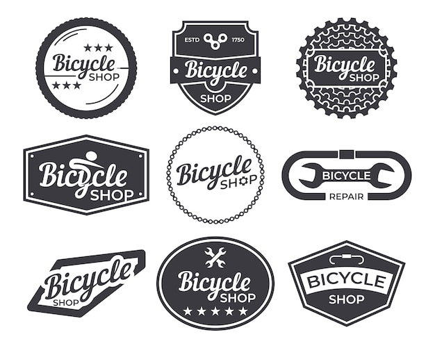 Vintage bicycle logo emblem pack