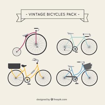 ヴィンテージ自転車をパック