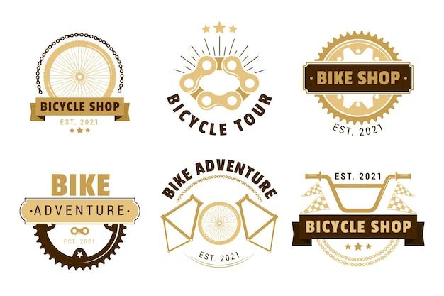 Vintage bike logo collection