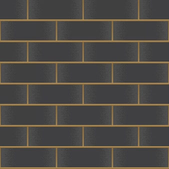 Vintage black brick wall background