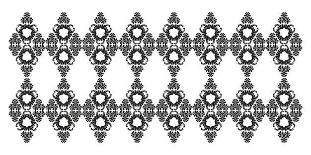 빈티지 블랙 다 마스크 패턴 동양 장식 레이저 커팅 문신 상감 레이스 블랙