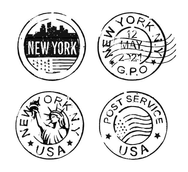 Vintage black stamp new york usa