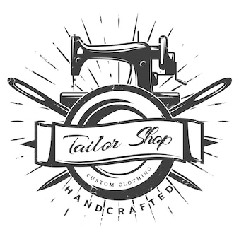 Vintage black tailor label template