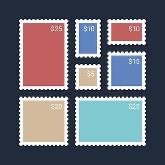ビンテージの空白の切手