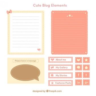 Elementi blog vintage
