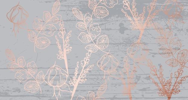 Vintage boho pattern flowers