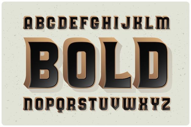 빈티지 굵은 글꼴 세트