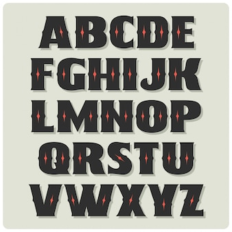 Винтажный жирный шрифт