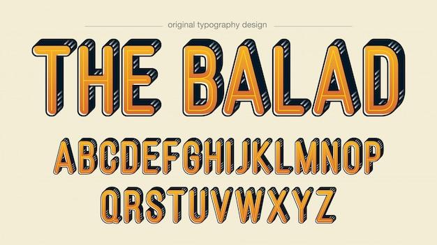 Vintage bold orange typography