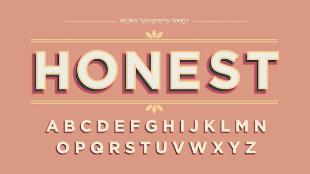 Vintage bold shadow typography