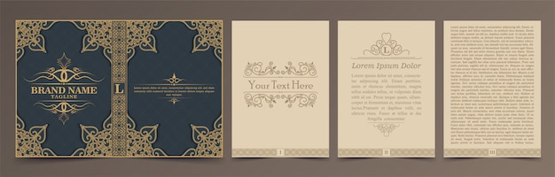 Vintage book layouts set