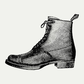 Vintage boot illustration