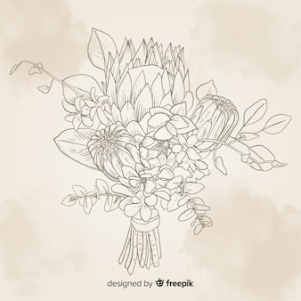 Vintage botanical flower bouquet