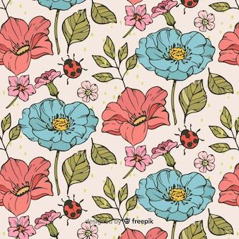 빈티지 식물 패턴