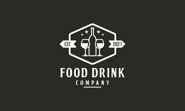 Vintage bottle cafe logo design