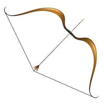 ビンテージの弓と矢