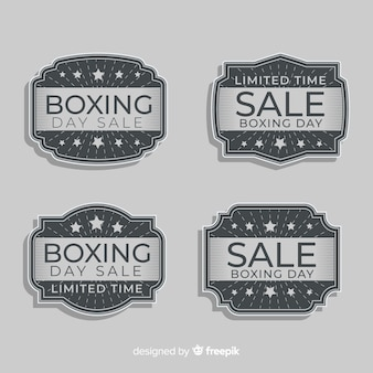 Vintage boxing day sale badge collection