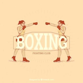 Vintage boxing label