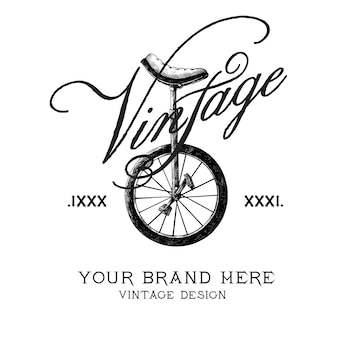 Vintage brand logo design vector
