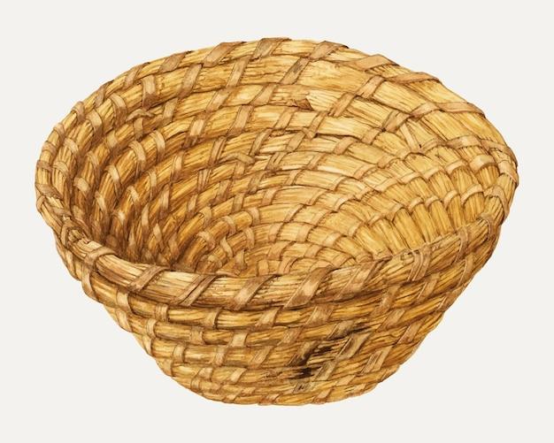 Vettore dell'illustrazione del cestino del pane vintage, remixato dall'opera d'arte di alfonso moreno