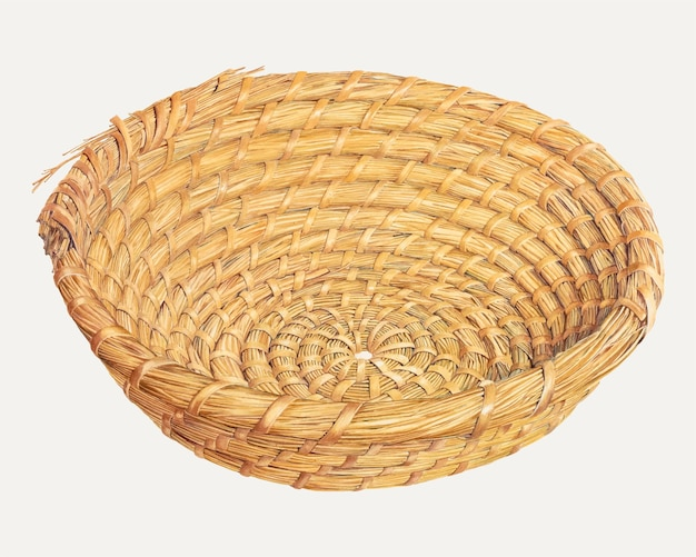 Illustrazione vettoriale vintage del cestino del pane, remixata dall'opera d'arte di frank eiseman