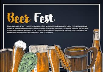 Vintage Brewery Beer Poster