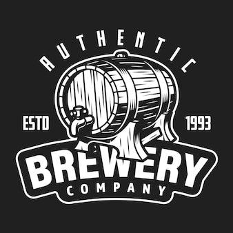 Vintage brewery company white logo