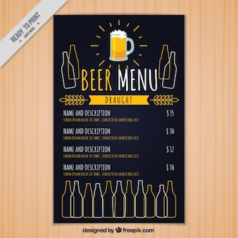 Урожай меню пивоварни