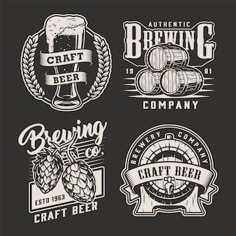 Vintage brewing badges