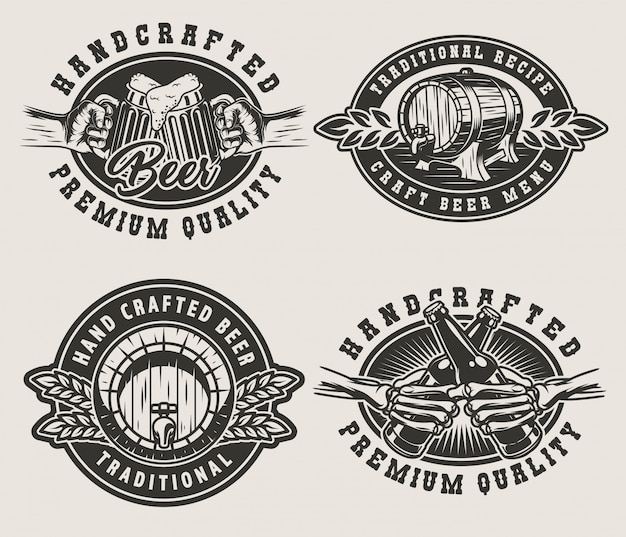Vintage brewing emblems