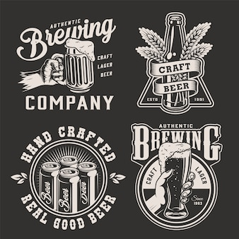 Vintage brewing monochrome badges